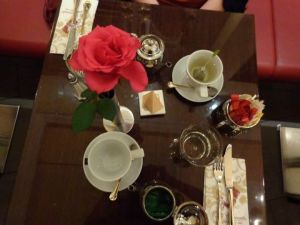 The table setting at Caffe Concerto